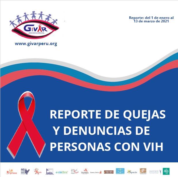 REPORTE DE QUEJAS Y DENUNCIAS DE PERSONAS CON VIH